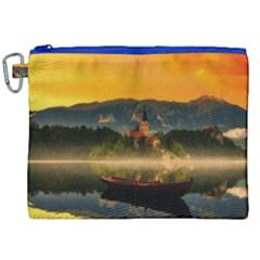 Bled Slovenia Sunrise Fog Mist Canvas Cosmetic Bag (xxl) by BangZart