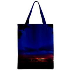 Canada Lake Night Evening Stars Zipper Classic Tote Bag by BangZart