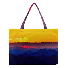 Austria Landscape Sky Clouds Medium Tote Bag by BangZart