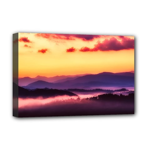 Great Smoky Mountains National Park Deluxe Canvas 18  x 12