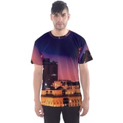 San Francisco Night Evening Lights Men s Sports Mesh Tee