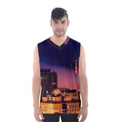 San Francisco Night Evening Lights Men s Basketball Tank Top