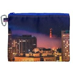San Francisco Night Evening Lights Canvas Cosmetic Bag (xxl) by BangZart