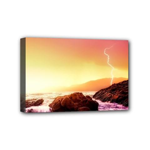 California Sea Ocean Pacific Mini Canvas 6  X 4  by BangZart