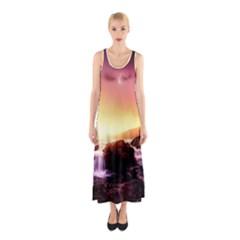 California Sea Ocean Pacific Sleeveless Maxi Dress