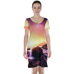 California Sea Ocean Pacific Short Sleeve Nightdress