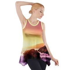 California Sea Ocean Pacific Side Drop Tank Tunic