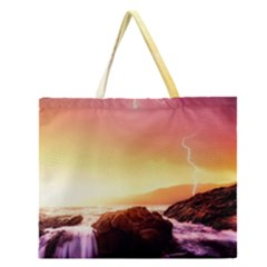 California Sea Ocean Pacific Zipper Large Tote Bag