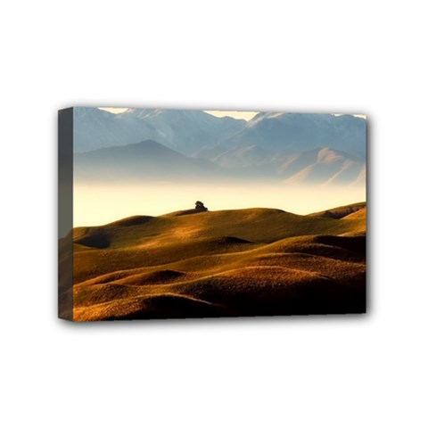 Landscape Mountains Nature Outdoors Mini Canvas 6  X 4  by BangZart