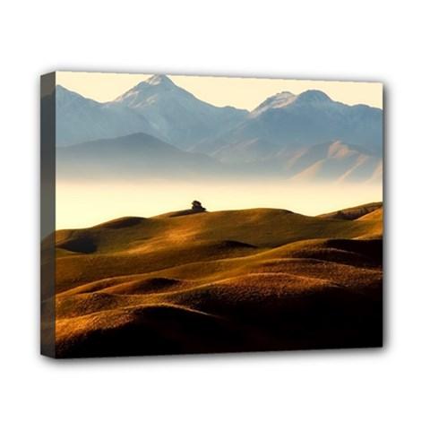 Landscape Mountains Nature Outdoors Canvas 10  X 8