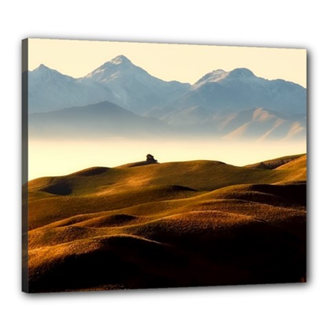 Landscape Mountains Nature Outdoors Canvas 24  X 20  by BangZart