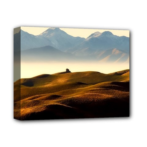 Landscape Mountains Nature Outdoors Deluxe Canvas 14  X 11