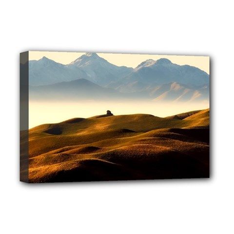 Landscape Mountains Nature Outdoors Deluxe Canvas 18  X 12