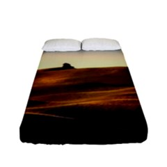 Landscape Mountains Nature Outdoors Fitted Sheet (full/ Double Size)