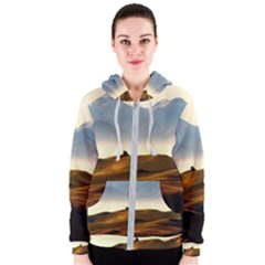 Landscape Mountains Nature Outdoors Women s Zipper Hoodie
