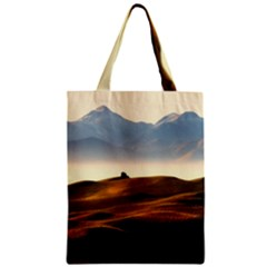 Landscape Mountains Nature Outdoors Zipper Classic Tote Bag
