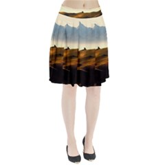 Landscape Mountains Nature Outdoors Pleated Skirt