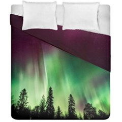 Aurora Borealis Northern Lights Duvet Cover Double Side (california King Size) by BangZart