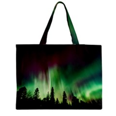 Aurora Borealis Northern Lights Zipper Medium Tote Bag