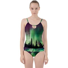 Aurora Borealis Northern Lights Cut Out Top Tankini Set