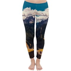 Italy Valley Canyon Mountains Sky Classic Winter Leggings