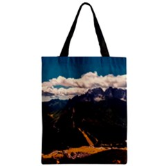 Italy Valley Canyon Mountains Sky Zipper Classic Tote Bag