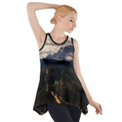 Italy Valley Canyon Mountains Sky Side Drop Tank Tunic