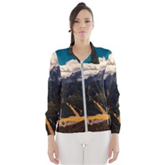 Italy Valley Canyon Mountains Sky Wind Breaker (women)