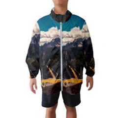 Italy Valley Canyon Mountains Sky Wind Breaker (kids)