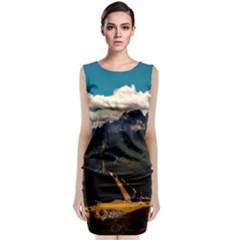 Italy Valley Canyon Mountains Sky Classic Sleeveless Midi Dress