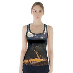 Italy Valley Canyon Mountains Sky Racer Back Sports Top