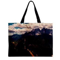 Italy Valley Canyon Mountains Sky Zipper Medium Tote Bag