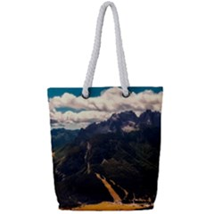 Italy Valley Canyon Mountains Sky Full Print Rope Handle Tote (small)