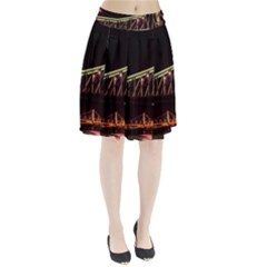 Budapest Hungary Liberty Bridge Pleated Skirt