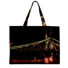 Budapest Hungary Liberty Bridge Medium Tote Bag