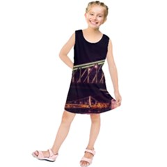 Budapest Hungary Liberty Bridge Kids  Tunic Dress
