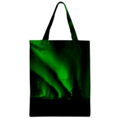 Aurora Borealis Northern Lights Zipper Classic Tote Bag