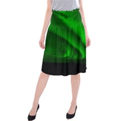 Aurora Borealis Northern Lights Midi Beach Skirt