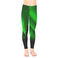 Aurora Borealis Northern Lights Kids  Legging by BangZart
