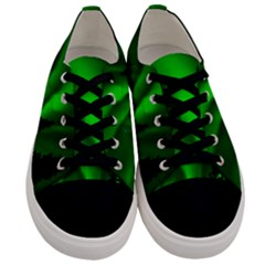 Aurora Borealis Northern Lights Men s Low Top Canvas Sneakers