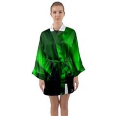 Aurora Borealis Northern Lights Long Sleeve Kimono Robe