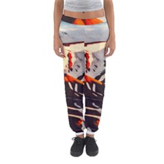 Iceland Landscape Mountains Snow Women s Jogger Sweatpants