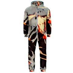 Iceland Landscape Mountains Snow Hooded Jumpsuit (men)