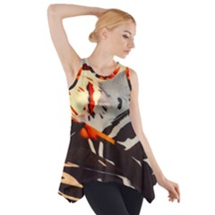 Iceland Landscape Mountains Snow Side Drop Tank Tunic