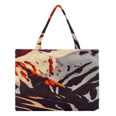 Iceland Landscape Mountains Snow Medium Tote Bag