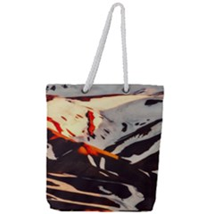 Iceland Landscape Mountains Snow Full Print Rope Handle Tote (large) by BangZart