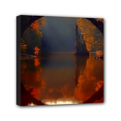 River Water Reflections Autumn Canvas Travel Bag