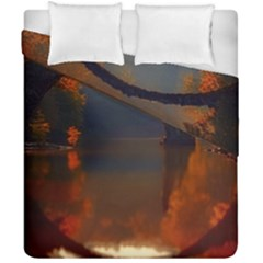 River Water Reflections Autumn Duvet Cover Double Side (california King Size)