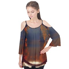 River Water Reflections Autumn Flutter Tees