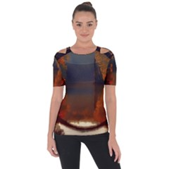 River Water Reflections Autumn Short Sleeve Top